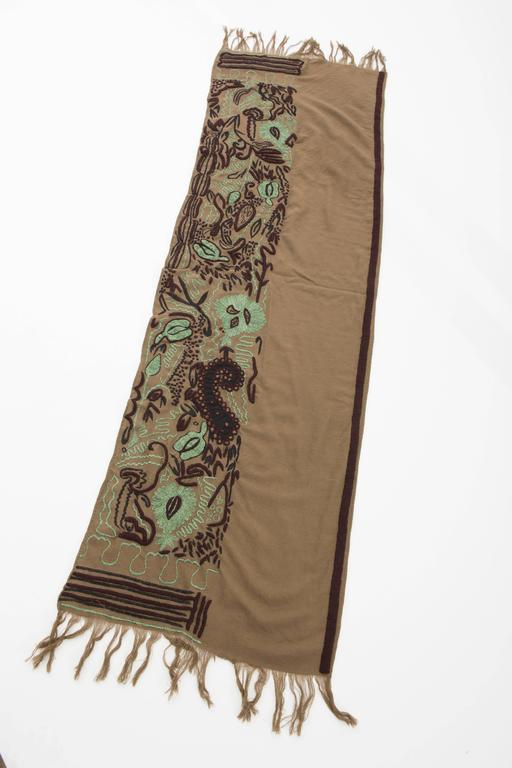 Dries Van Noten Runway Wool Embroidered Shawl, Fall 2002 For Sale 1