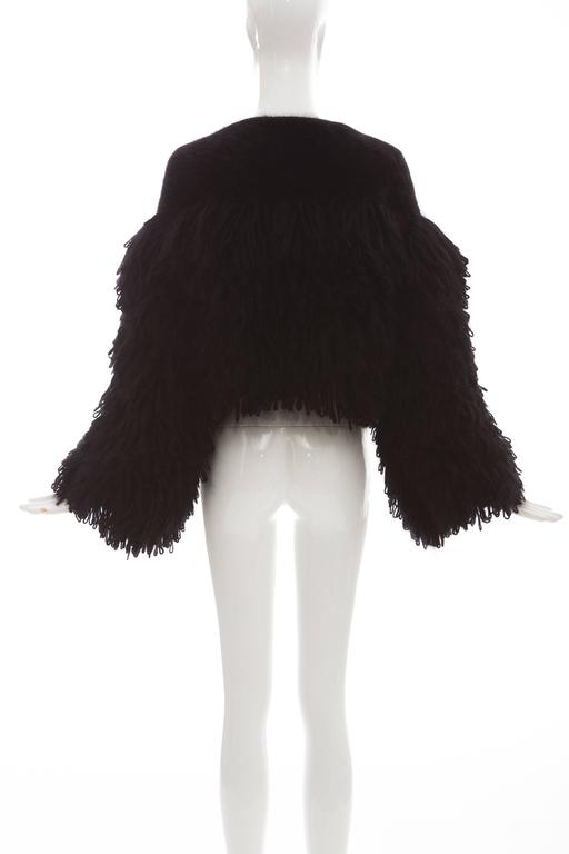 Women's Viktor & Rolf Black Angora Open Front Jacket, Autumn - Winter 2014 For Sale