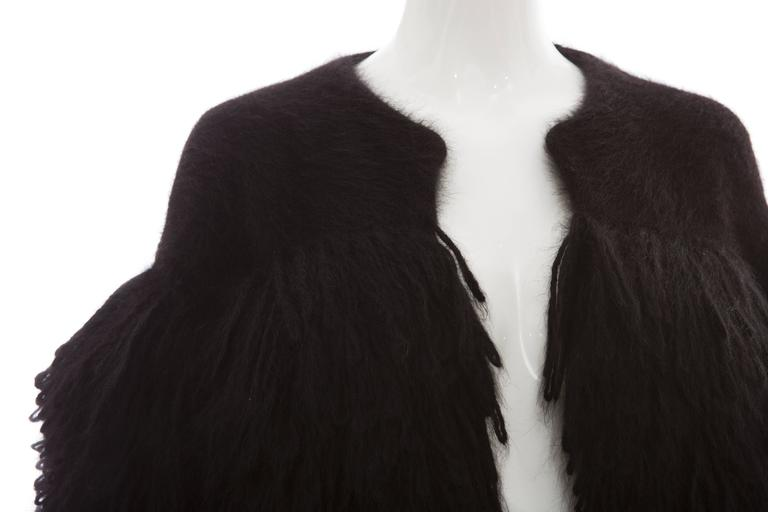 Viktor & Rolf Black Angora Open Front Jacket, Autumn - Winter 2014 For Sale 2