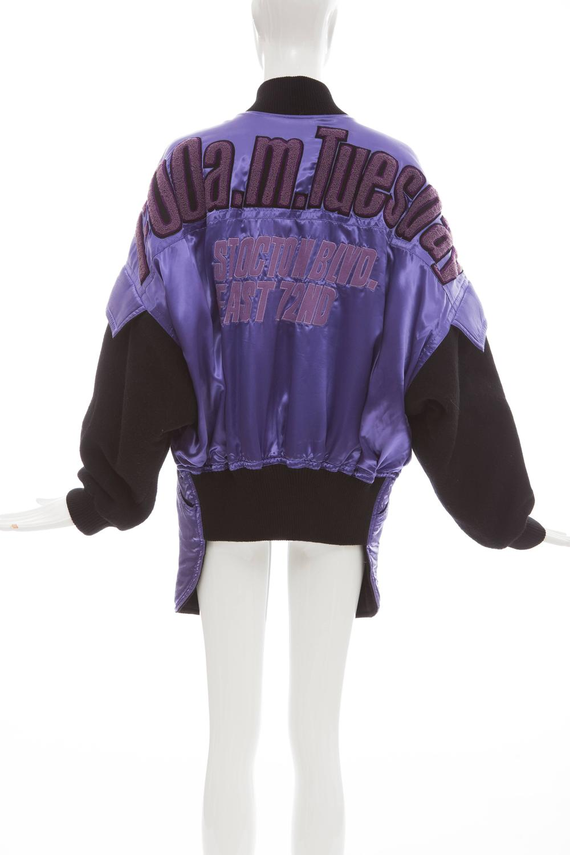 Kansai Yamamoto Purple Satin Jacket With Appliquéd Patches ...