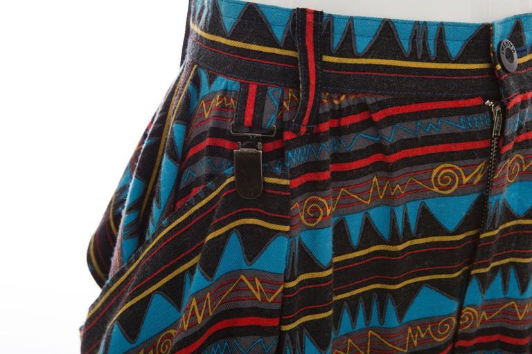 Kansai Yamamoto Printed Harem Pants, Circa 1980's 6