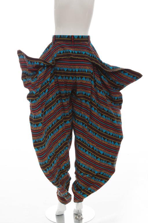 Kansai Yamamoto Printed Harem Pants, Circa 1980's 9