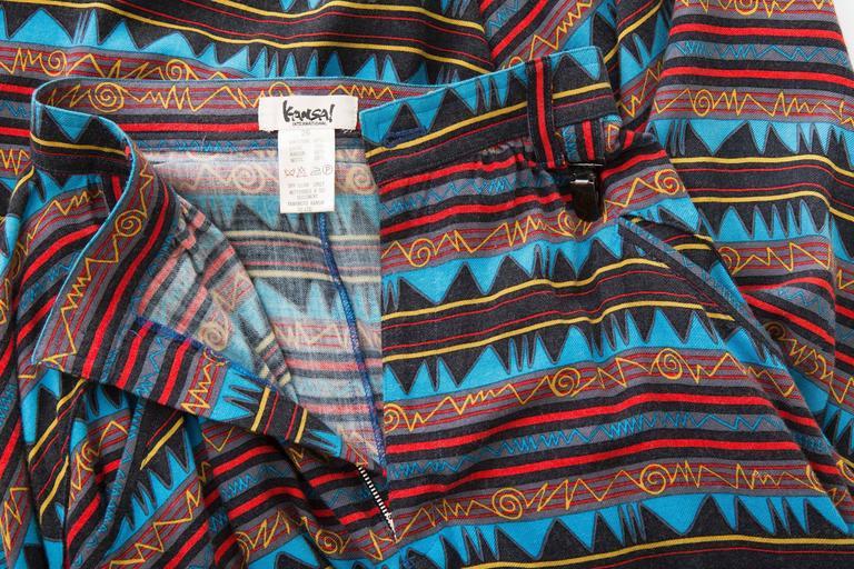 Kansai Yamamoto Printed Harem Pants, Circa 1980's 10