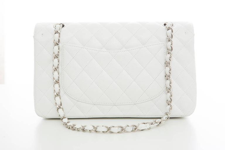 Chanel White Quilted Caviar Medium Double Flap Bag, Spring - Summer 2006 3