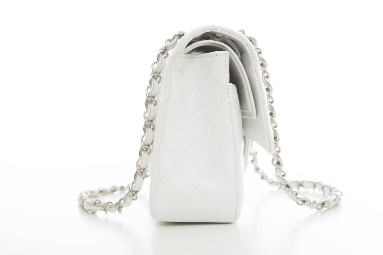 Chanel White Quilted Caviar Medium Double Flap Bag, Spring - Summer 2006 5