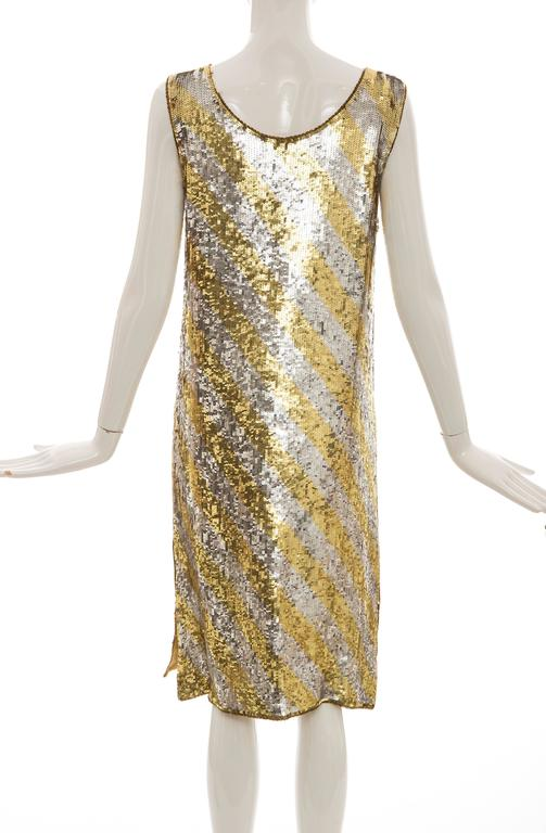 Marc Bohan for Christian Dior Embroidered Sequin Dress, Circa 1970s In Good Condition For Sale In Cincinnati, OH