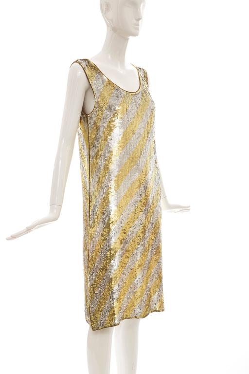 Women's  Marc Bohan for Christian Dior Embroidered Sequin Dress, Circa 1970s For Sale