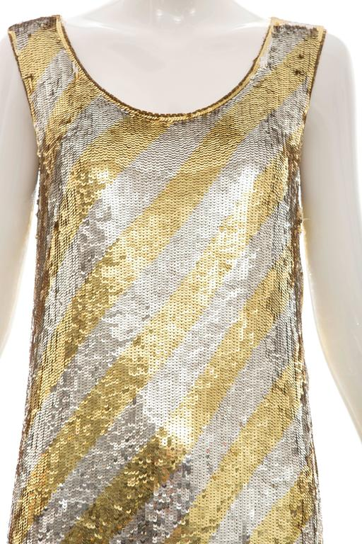 Marc Bohan for Christian Dior Embroidered Sequin Dress, Circa 1970s For Sale 1