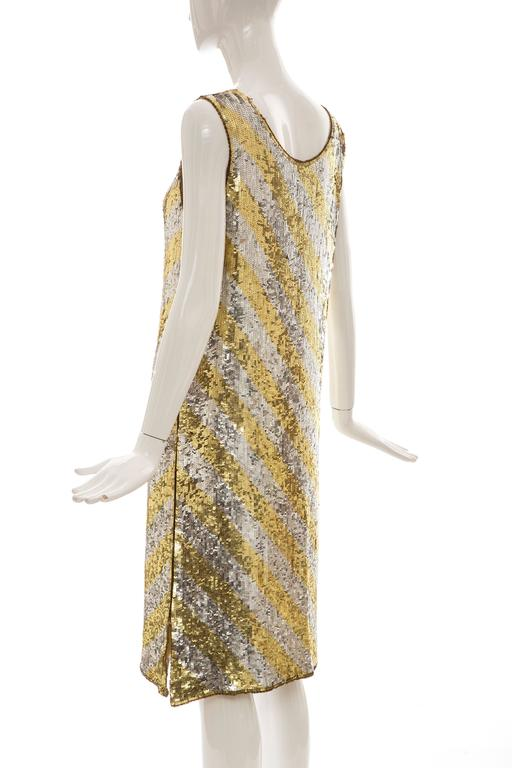 Marc Bohan for Christian Dior Embroidered Sequin Dress, Circa 1970s For Sale 2
