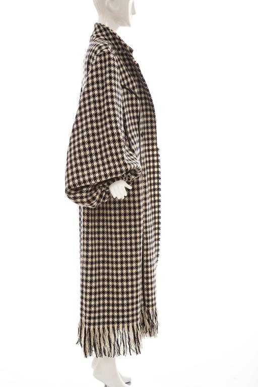 Yohji Yamamoto Black And White Wool Houndstooth Coat, Autumn - Winter 2003 3
