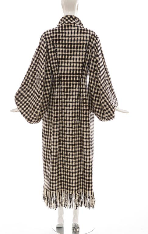 Yohji Yamamoto Black And White Wool Houndstooth Coat, Autumn - Winter 2003 4