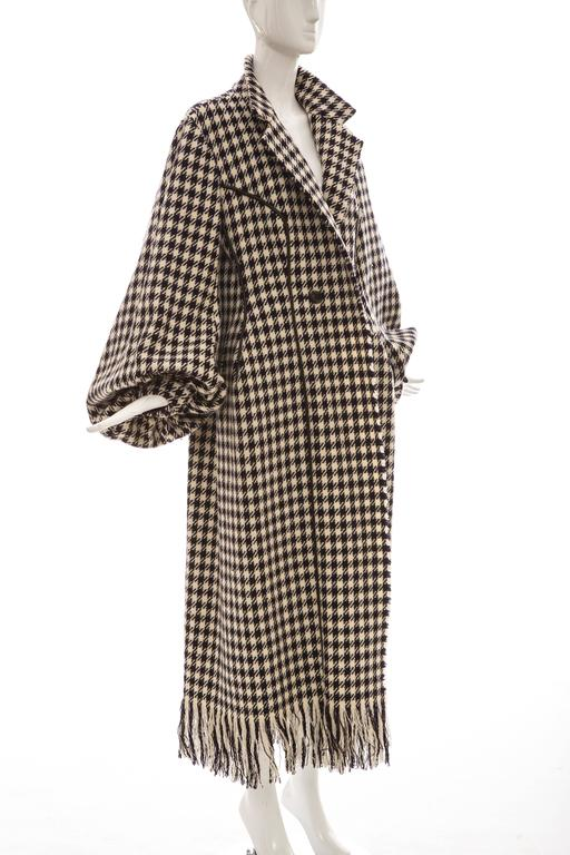 Yohji Yamamoto Black And White Wool Houndstooth Coat, Autumn - Winter 2003 5