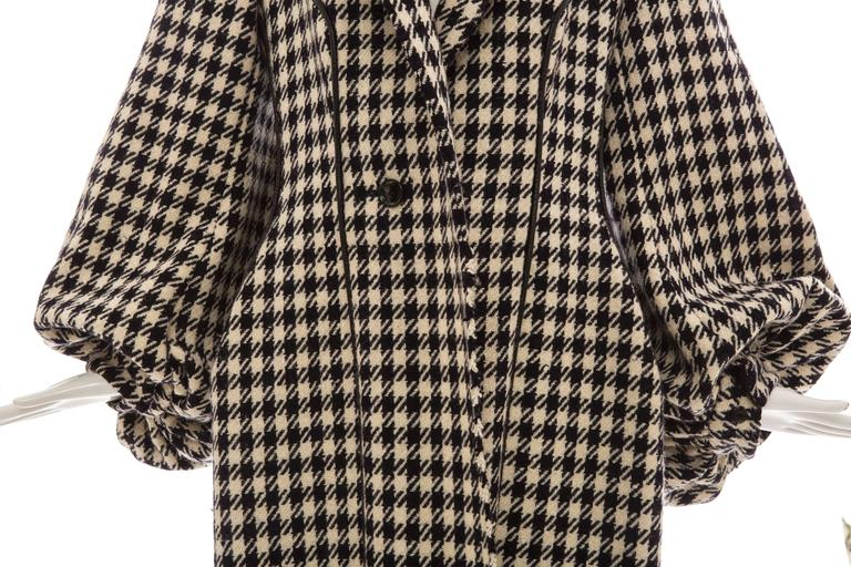 Yohji Yamamoto Black And White Wool Houndstooth Coat, Autumn - Winter 2003 6