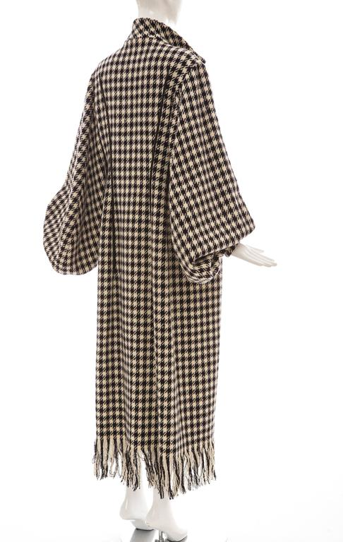 Yohji Yamamoto Black And White Wool Houndstooth Coat, Autumn - Winter 2003 7