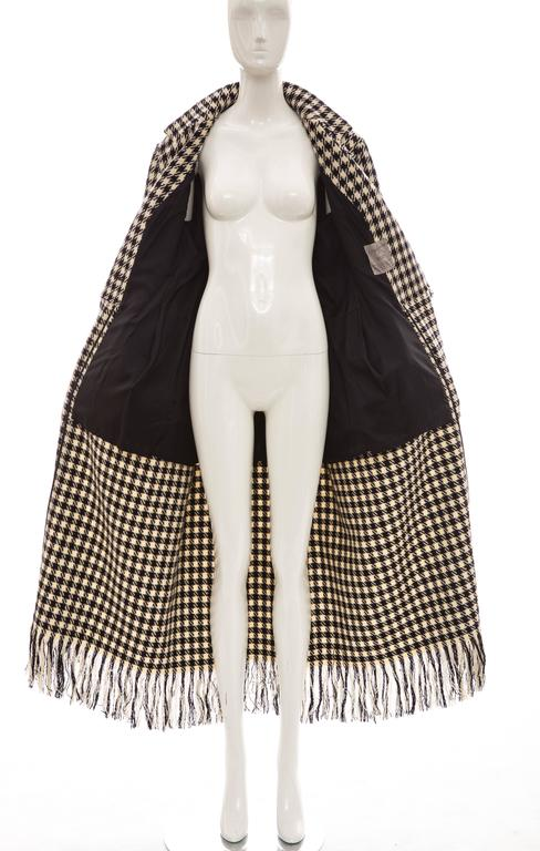 Yohji Yamamoto Black And White Wool Houndstooth Coat, Autumn - Winter 2003 9