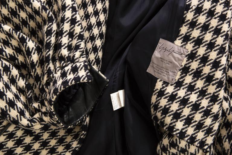 Yohji Yamamoto Black And White Wool Houndstooth Coat, Autumn - Winter 2003 10