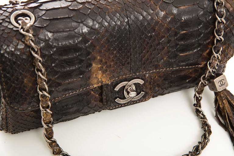 Chanel Soho Tassel Single Flap Python Medium Bag, Autumn - Winter 2006 3