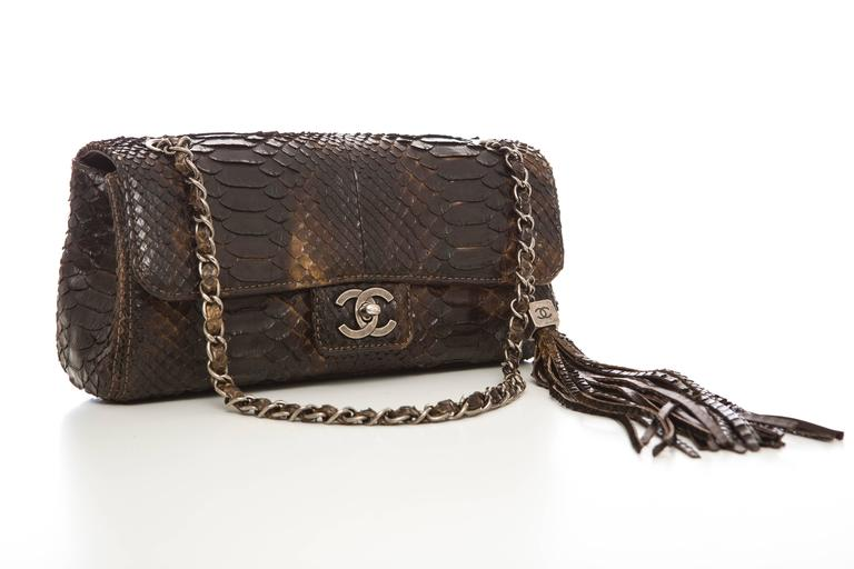 Chanel Soho Tassel Single Flap Python Medium Bag, Autumn - Winter 2006 2