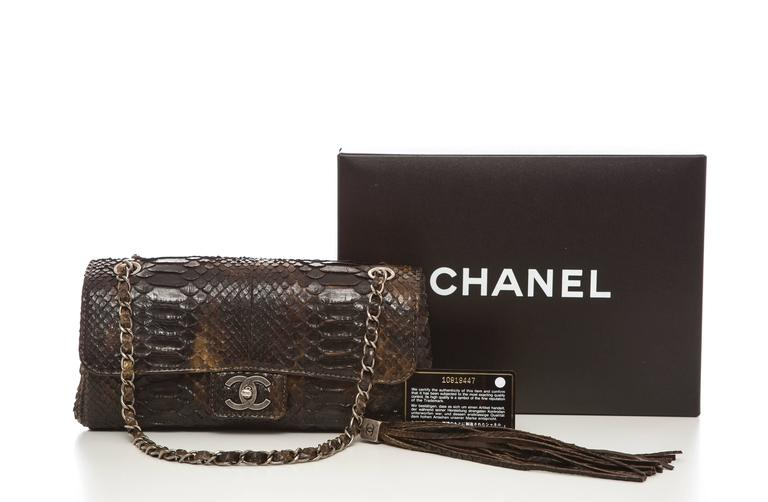 Chanel Soho Tassel Single Flap Python Medium Bag, Autumn - Winter 2006 8