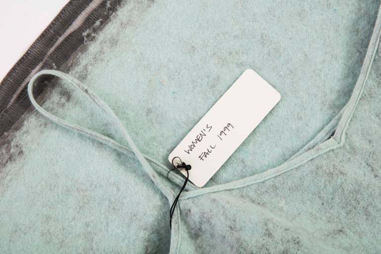 John Bartlett Boiled Wool Shift Dress, Autumn - Winter 1999 10