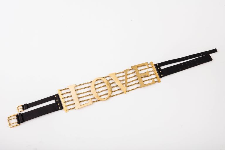 Dolce & Gabbana Love Black Leather Belt, Spring - Summer 2003 2