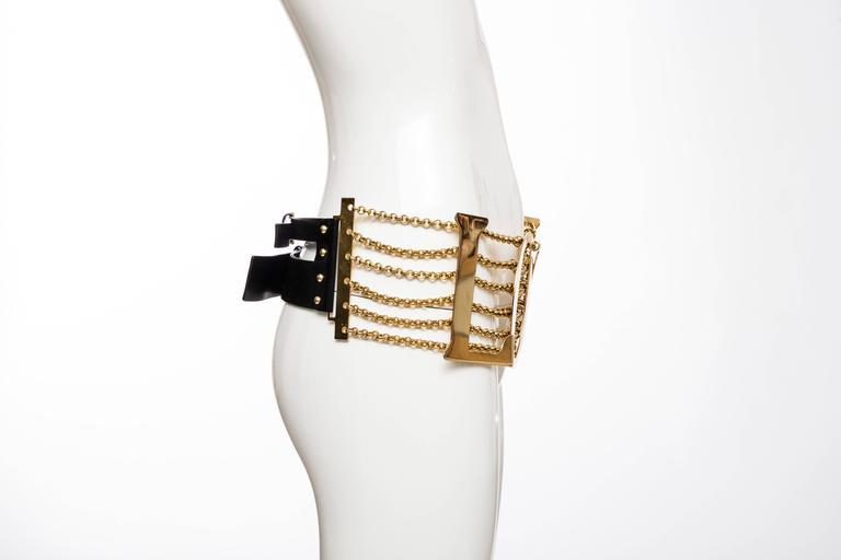 Dolce & Gabbana Love Black Leather Belt, Spring - Summer 2003 4