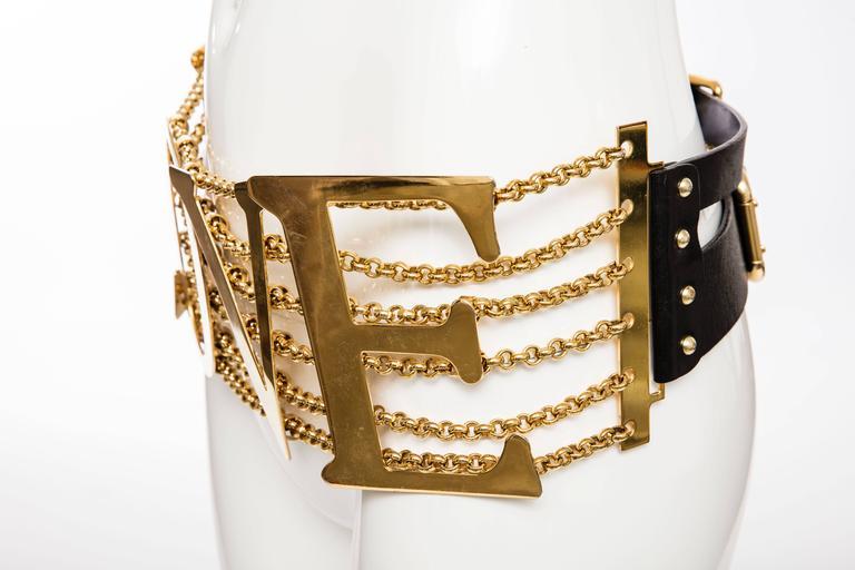 Dolce & Gabbana Love Black Leather Belt, Spring - Summer 2003 9