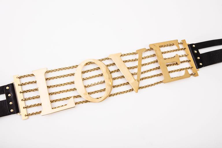Dolce & Gabbana Love Black Leather Belt, Spring - Summer 2003 10