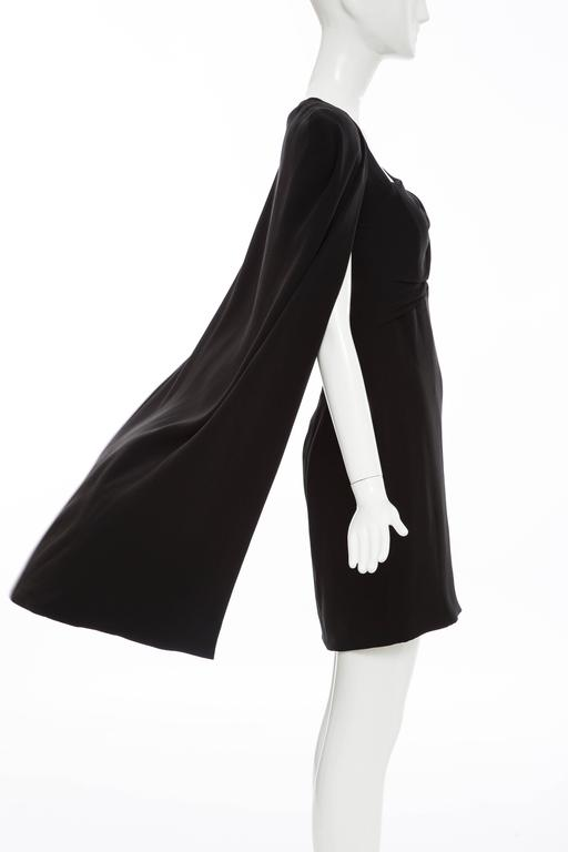 Tom Ford Black Silk Evening Dress With Matching Cape, Fall 2012 In Excellent Condition For Sale In Cincinnati, OH