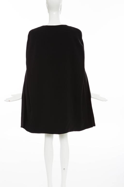 Women's Tom Ford Black Silk Evening Dress With Matching Cape, Fall 2012 For Sale
