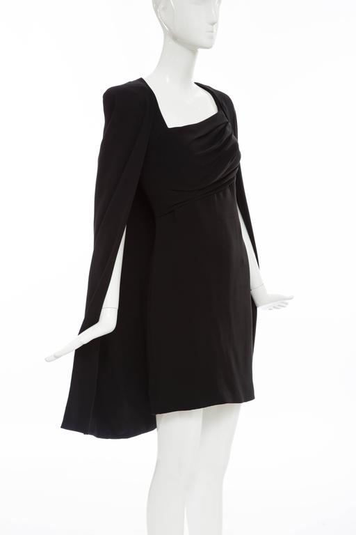 Tom Ford Black Silk Evening Dress With Matching Cape, Fall 2012 For Sale 1