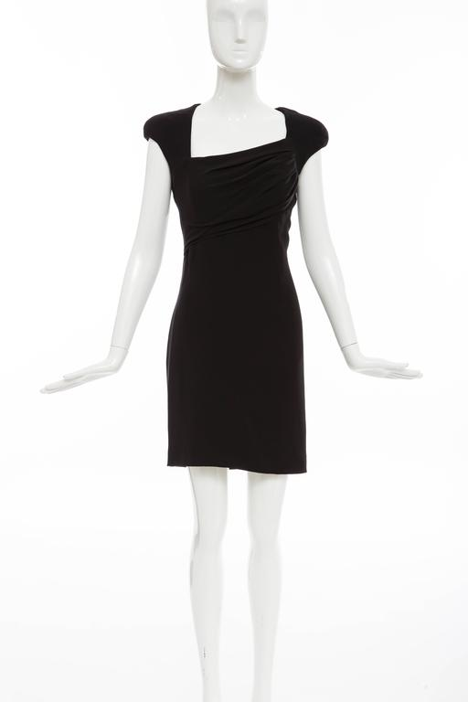 Tom Ford Black Silk Evening Dress With Matching Cape, Fall 2012 For Sale 3
