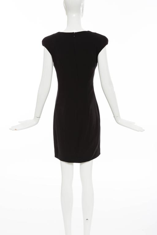 Tom Ford Black Silk Evening Dress With Matching Cape, Fall 2012 For Sale 4