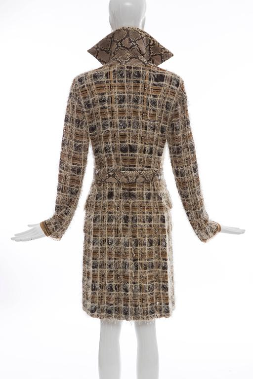 Women's Dolce & Gabbana Runway Python And Silk Chiffon Trench Coat, Spring - Summer 2005 For Sale