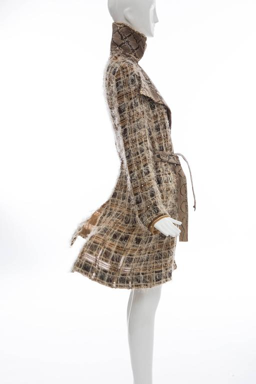 Dolce & Gabbana Runway Python And Silk Chiffon Trench Coat, Spring - Summer 2005 For Sale 2