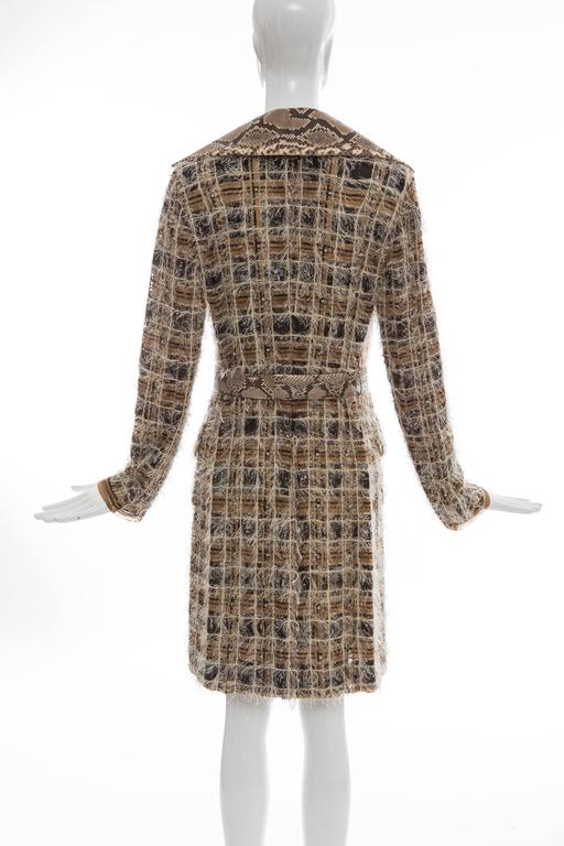 Dolce & Gabbana Runway Python And Silk Chiffon Trench Coat, Spring - Summer 2005 For Sale 4