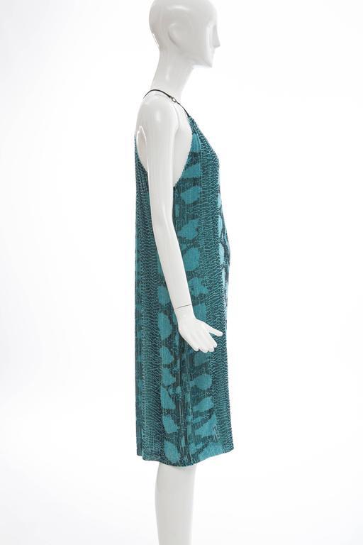 Tom Ford For Gucci Silk Beaded Python Print Shift Dress