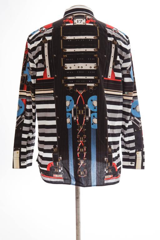 Black Givenchy By Riccardo Tisci Men's Cotton Print Shirt, Spring -Summer 2014 For Sale