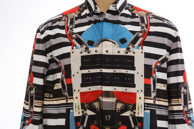 Givenchy By Riccardo Tisci Men's Cotton Print Shirt, Spring -Summer 2014 For Sale 1