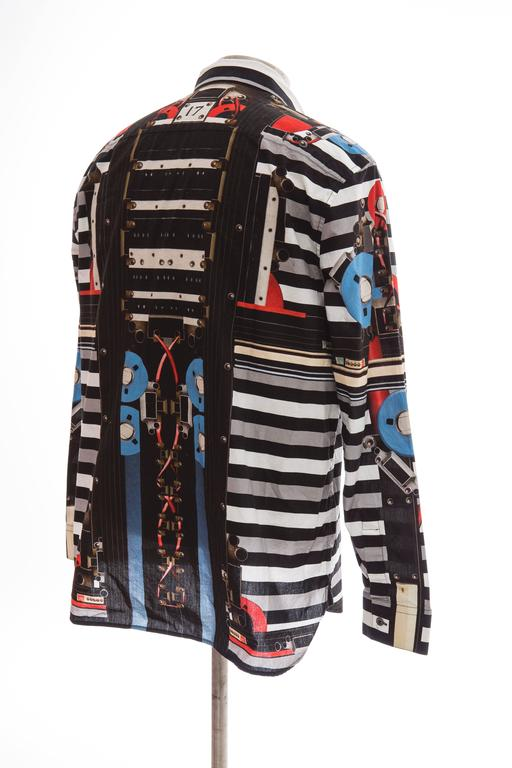 Givenchy By Riccardo Tisci Men's Cotton Print Shirt, Spring -Summer 2014 For Sale 2