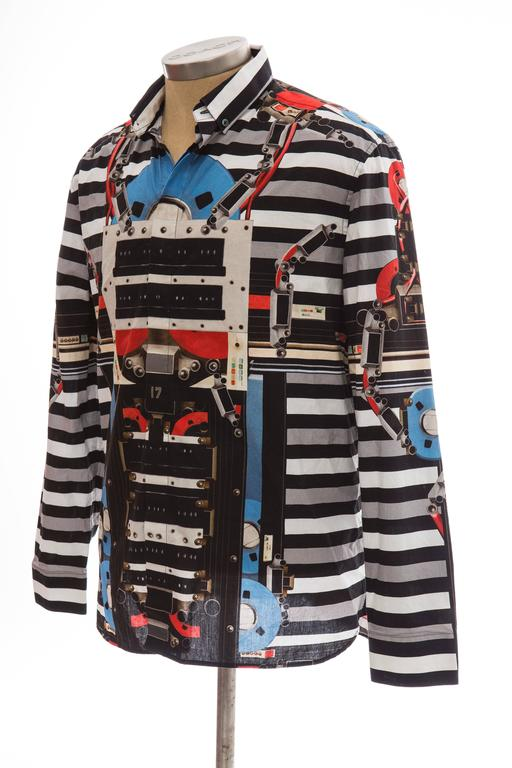 Givenchy By Riccardo Tisci Men's Cotton Print Shirt, Spring -Summer 2014 For Sale 4