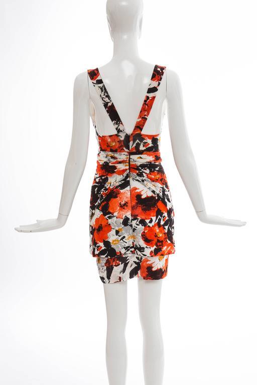Nicolas Ghesquiere For Balenciaga Floral Neoprene Dress, Spring - Summer 2008 In Excellent Condition For Sale In Cincinnati, OH