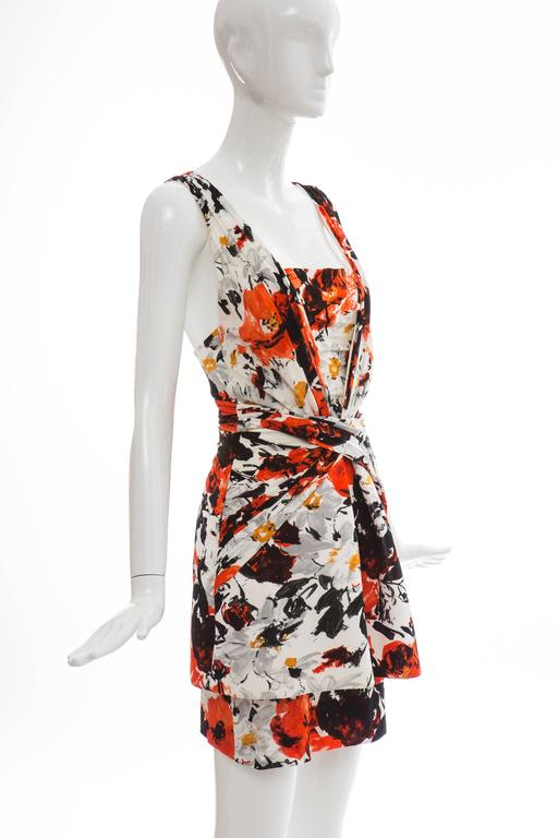 Women's Nicolas Ghesquiere For Balenciaga Floral Neoprene Dress, Spring - Summer 2008 For Sale