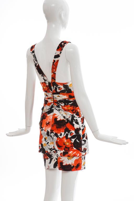 Nicolas Ghesquiere For Balenciaga Floral Neoprene Dress, Spring - Summer 2008 For Sale 2