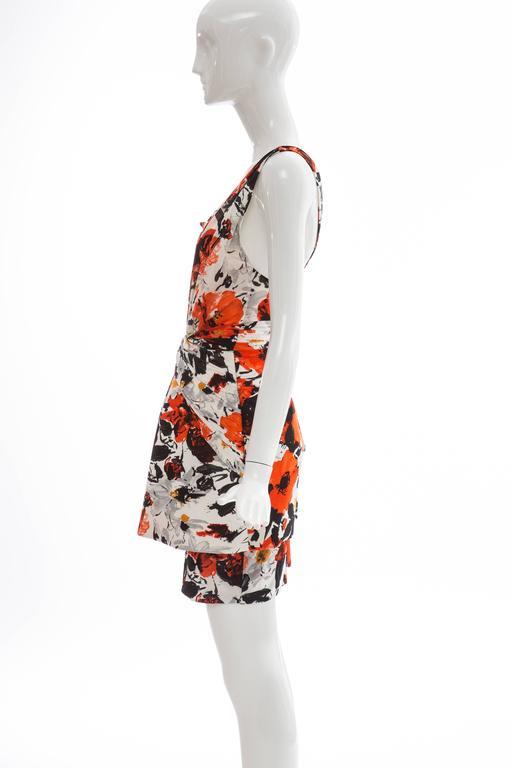 Nicolas Ghesquiere For Balenciaga Floral Neoprene Dress, Spring - Summer 2008 For Sale 3