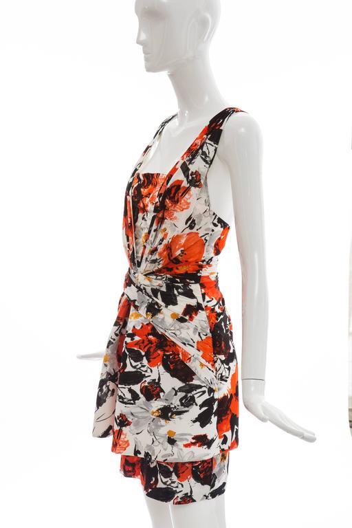 Nicolas Ghesquiere For Balenciaga Floral Neoprene Dress, Spring - Summer 2008 For Sale 4