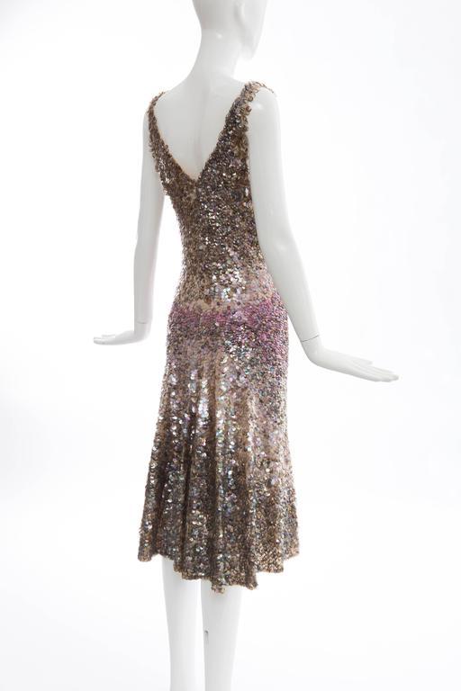 Zac Posen Runway Sleeveless Evening Dress Paillettes Flounce Hem, Spring 2004 For Sale 2