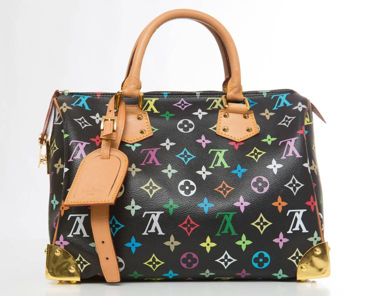 louis vuitton limited edition takashi murakami collection speedy 30 hand bag for sale at 1stdibs