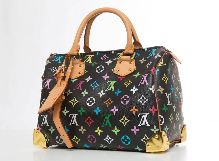 4b4f34318bcc Women s Louis Vuitton Limited Edition Takashi Murakami Collection Speedy 30  Hand Bag For Sale