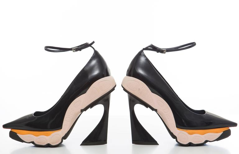 0857675ef94 Raf Simons For Christian Dior Patent Leather Runway Sneaker Pumps, Fall 2014